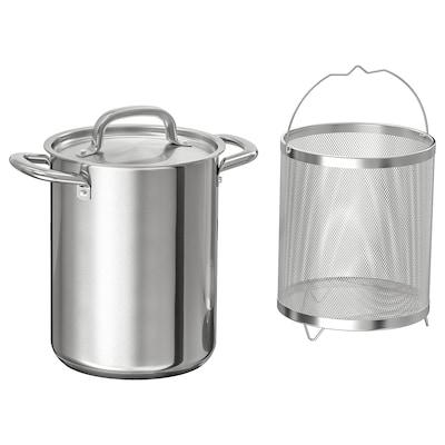IKEA 365+ Topf mit Einsatz, Edelstahl, 5.0 l