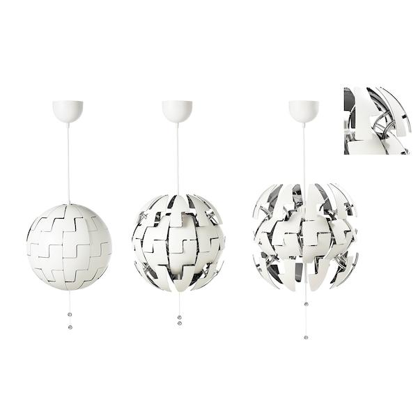 IKEA PS 2014 Hängeleuchte weiß/silberfarben 13 W 35 cm 150 cm