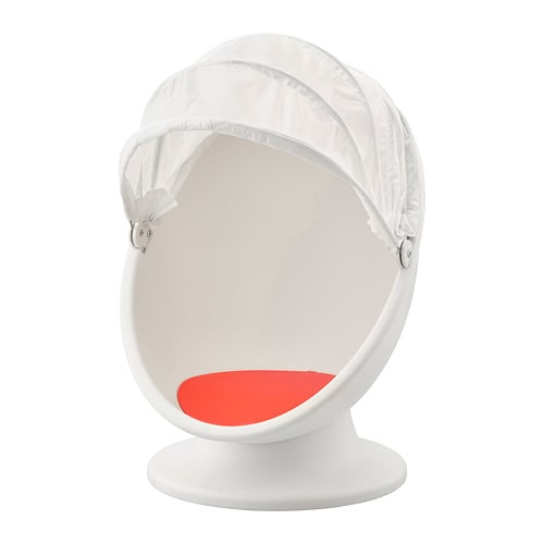 Kinder Egg Chair.Ikea Ps Lomsk Drehsessel Weiss Rot