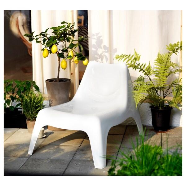 IKEA PS VÅGÖ Sessel/außen weiß 110 kg 74 cm 92 cm 71 cm 55 cm 50 cm 36 cm