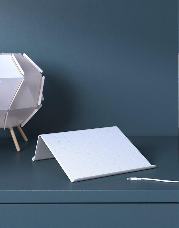 ISBERGET Tablet-Halter, weiß, 25x25 cm