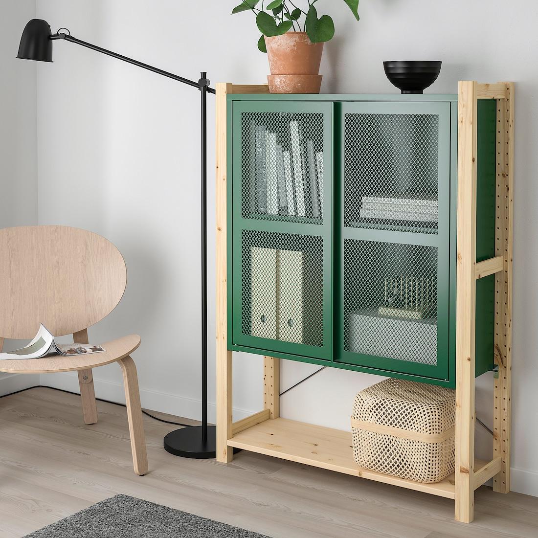 IVAR 1 Elem/Böden/Schrank - Kiefer/grün Netz - IKEA Schweiz