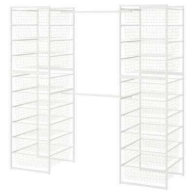 JONAXEL Rahmen/Drahtkörbe/Kleiderstangen, weiß, 142-178x51x173 cm