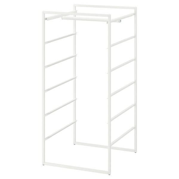 JONAXEL Rahmen mit Kleiderstange, weiß, 50x51x104 cm