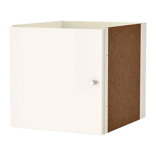 kallax einsatz mit t r wei ikea. Black Bedroom Furniture Sets. Home Design Ideas
