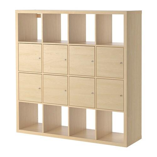 Kleiderschrank Ikea Begehbar ~ KALLAX Regal mit 8 Einsätzen  Birkenachbildung  IKEA