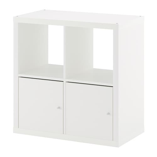 kallax regal mit t ren wei ikea. Black Bedroom Furniture Sets. Home Design Ideas