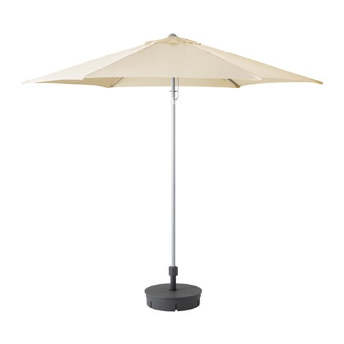 Ikea Elschirm karlsö sonnenschirm mit ständer beige grytö dunkelgrau ikea