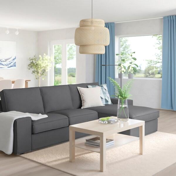 KIVIK 3er-Sofa mit Récamiere/Skiftebo dunkelgrau 280 cm 83 cm 95 cm 163 cm 60 cm 124 cm 45 cm