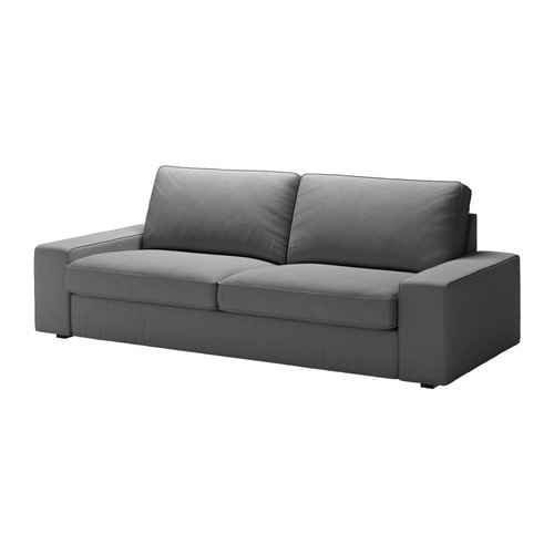 kivik bezug 3er bettsofa svanby grau ikea. Black Bedroom Furniture Sets. Home Design Ideas