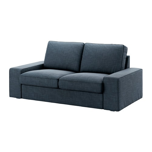 Kivik 2er sofa hillared dunkelblau ikea for Couch von ikea