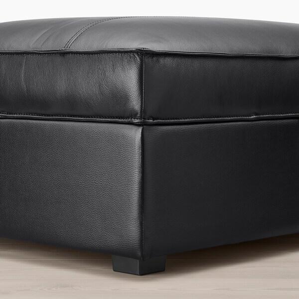 KIVIK Hocker Grann/Bomstad schwarz 90 cm 70 cm 43 cm