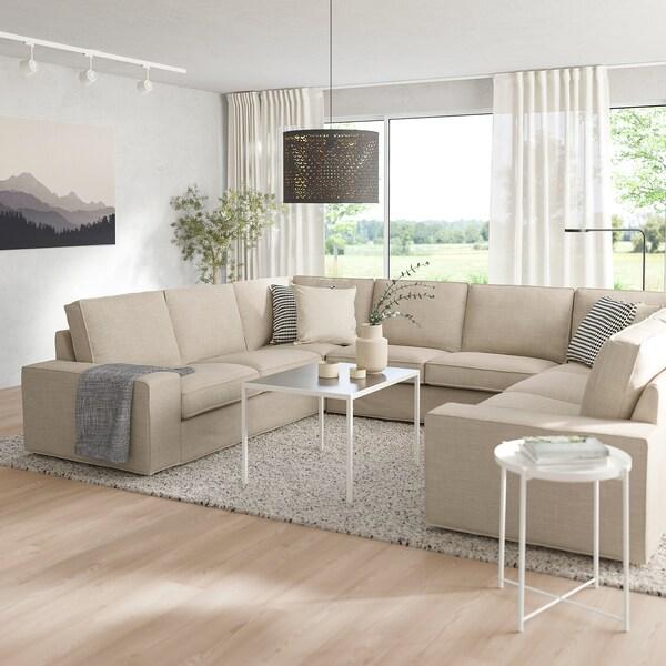 KIVIK Sofa, U-Form/6-sitzig Hillared beige 328 cm 257 cm 83 cm 24 cm 60 cm 45 cm