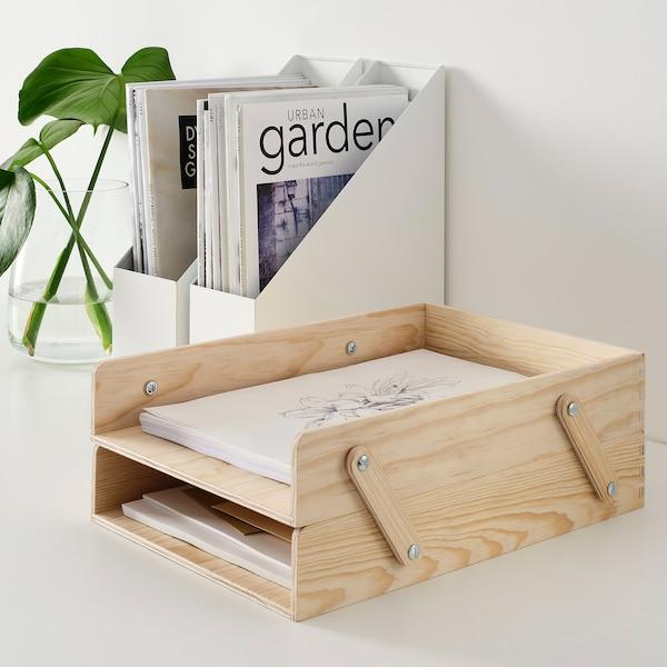 KLÄMMEMACKA Briefablage, naturfarben Sperrholz