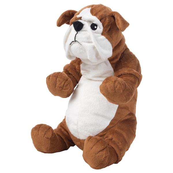 KLAPPAR Stofftier Bulldogge braun/weiß
