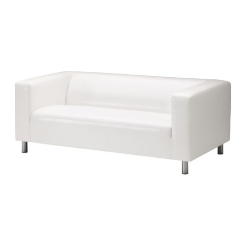 wohnzimmer couch ikea:IKEA White Leather Sofa