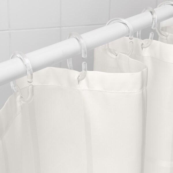 KLOCKAREN Duschvorhang, elfenbeinweiß, 180x200 cm