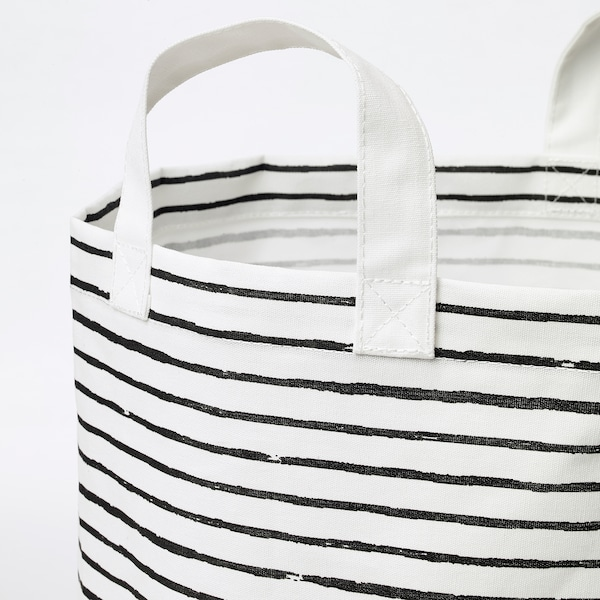 KLUNKA Wäschesack weiß/schwarz 60 cm 36 cm 60 l