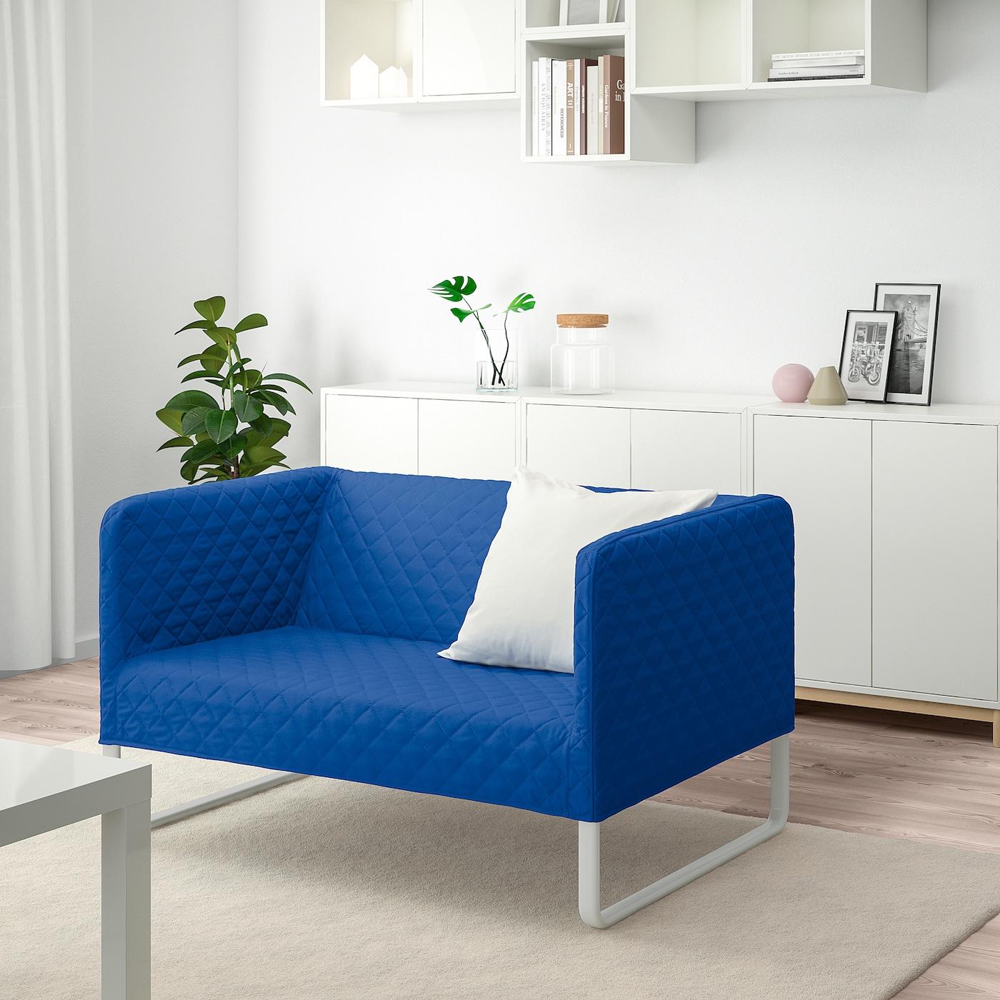 KNOPPARP 2er-Sofa Knisa leuchtend blau 119 cm 76 cm 69 cm 21 cm 69 cm 108 cm 54 cm 39 cm