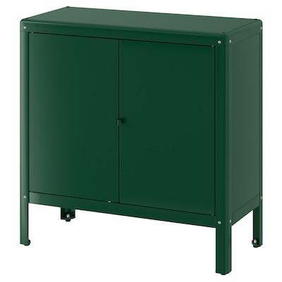 KOLBJÖRN Schrank drinnen/draußen, grün, 80x81 cm