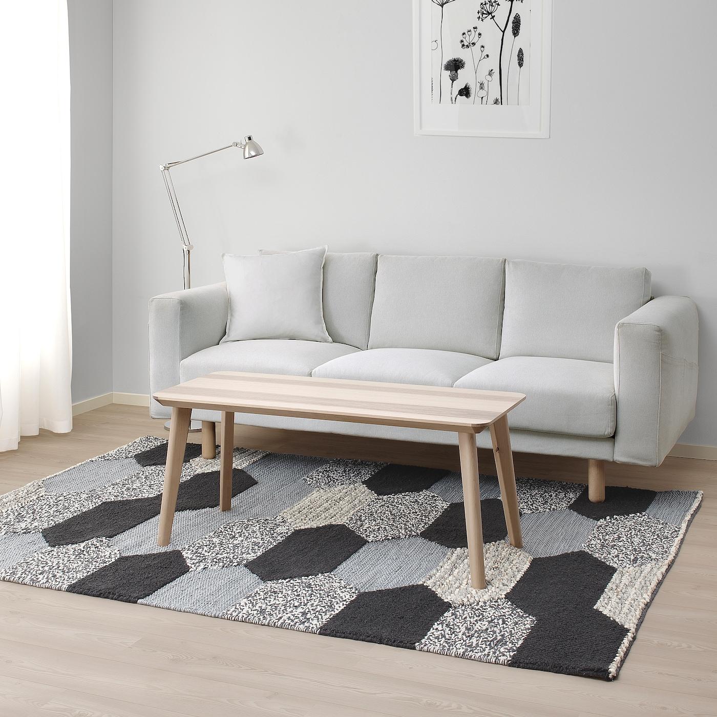 Kollund Teppich Flach Gewebt Handarbeit Grau Ikea Schweiz