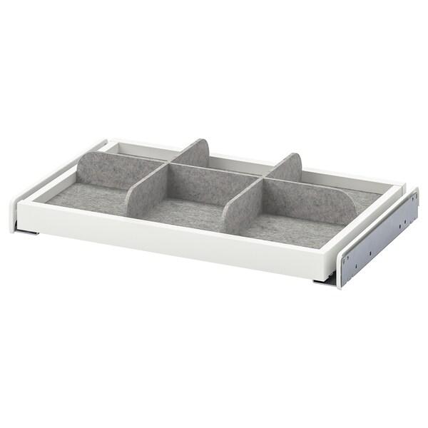 KOMPLEMENT Ausziehboden mit Trennsteg, weiß/hellgrau, 50x35 cm