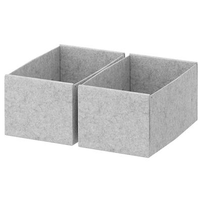 KOMPLEMENT Box hellgrau 15 cm 27 cm 12 cm 2 Stück