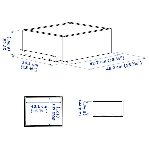KOMPLEMENT Schublade mit Glasfront, weiß, 50x35 cm