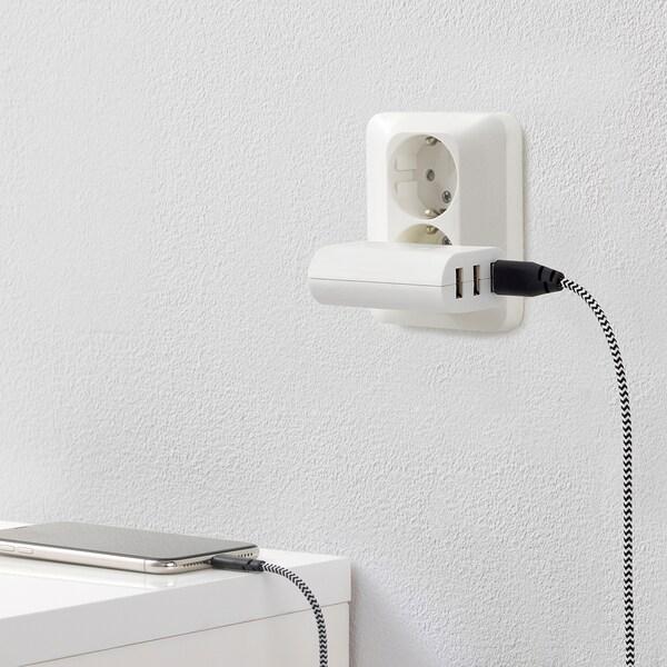 KOPPLA Ladegerät mit 3 USB-Ausgängen weiß 7 cm 3 cm