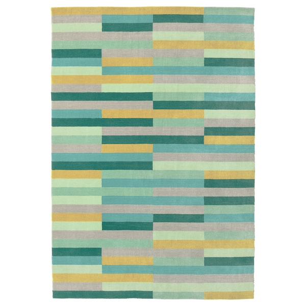 KRÖNGE Teppich Kurzflor, Handarbeit/bunt, 170x240 cm