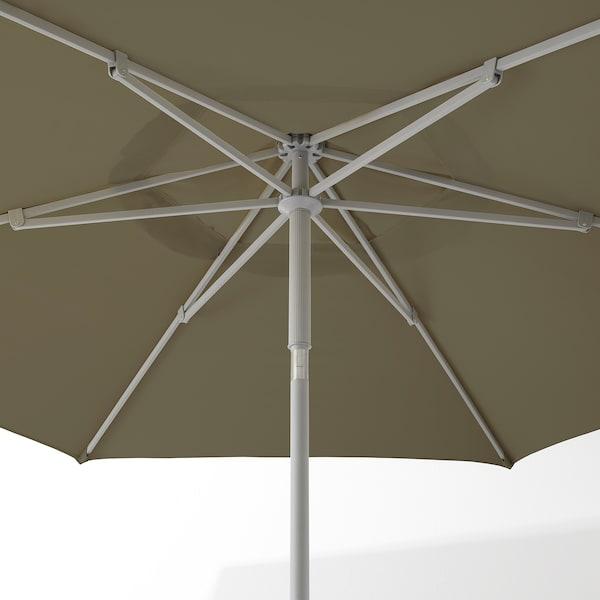 KUGGÖ / LINDÖJA Sonnenschirm, beigegrün, 300 cm