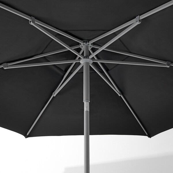 KUGGÖ / LINDÖJA Sonnenschirm, schwarz, 300 cm