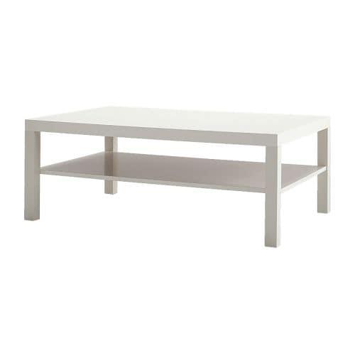 LACK Couchtisch, Weiß Länge: 118 Cm Breite: ...