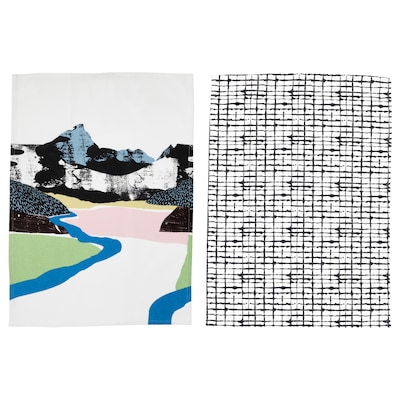 LACKTICKA Geschirrtuch, Landschaft/gemustert, 50x70 cm