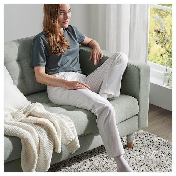LANDSKRONA 3er-Sofa mit Récamiere/Gunnared hellgrün/Holz 242 cm 78 cm 158 cm 64 cm