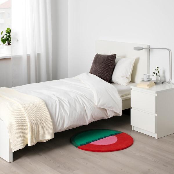 LANGESÖ Teppich Kurzflor, rot/grün, 70 cm