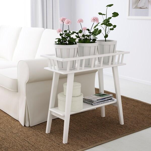 LANTLIV Blumenständer weiß 74 cm 32 cm 68 cm 100 kg