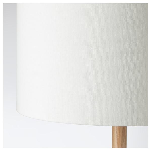 LAUTERS Tischleuchte Esche/weiß 13 W 24 cm 57 cm 27 cm 250 cm