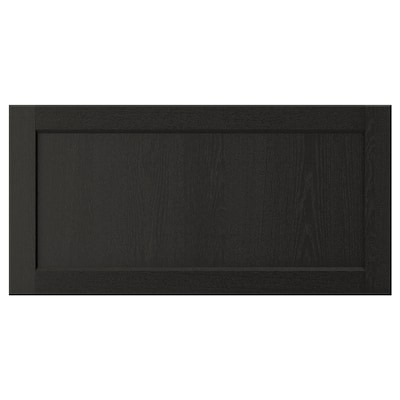 LERHYTTAN Schubladenfront schwarz lasiert 79.7 cm 40 cm 80 cm 39.7 cm 1.9 cm