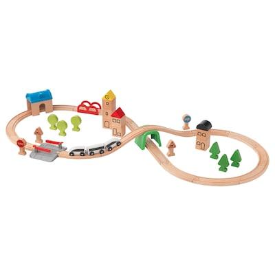 LILLABO Eisenbahn-Set mit Schienen, 45-tlg.