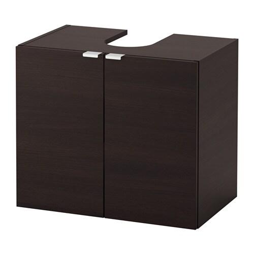 LILLÅNGEN Waschbeckenunterschrank, 2 Türen - schwarzbraun - IKEA