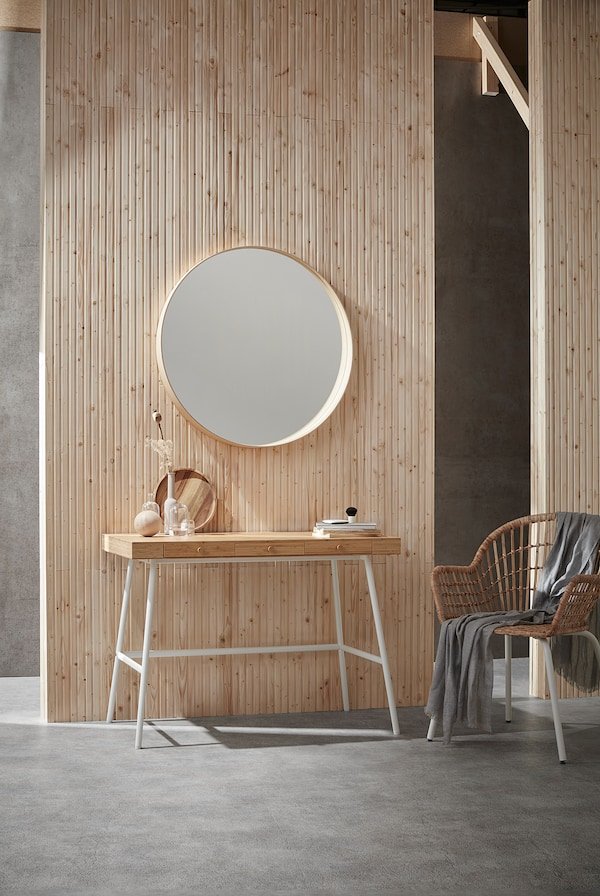 LILLÅSEN Schreibtisch, Bambus, 102x49 cm
