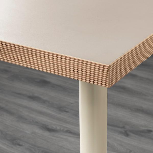 LINNMON / ADILS Tisch beige 120 cm 60 cm 74 cm 50 kg