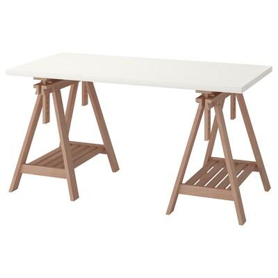 LINNMON / FINNVARD Tisch weiß/Buche 150 cm 75 cm 50 kg