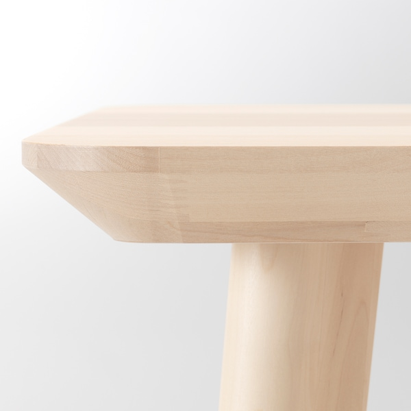LISABO / IDOLF Tisch und 4 Stühle Eschenfurnier/schwarz 140 cm 78 cm 74 cm