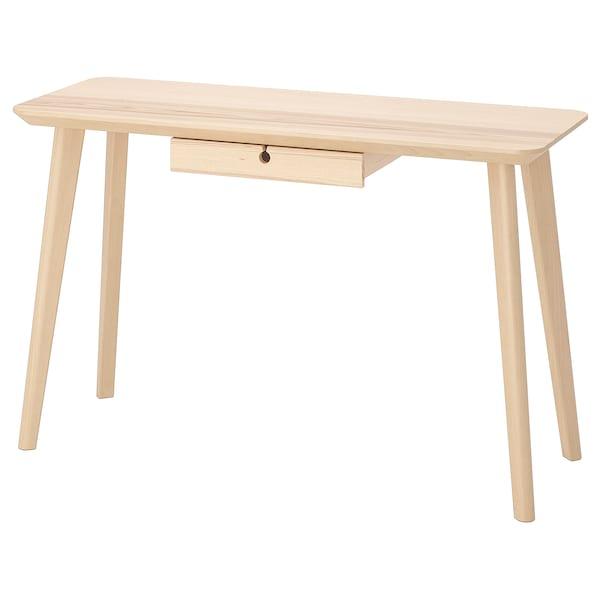 LISABO Schreibtisch, Eschenfurnier, 118x45 cm