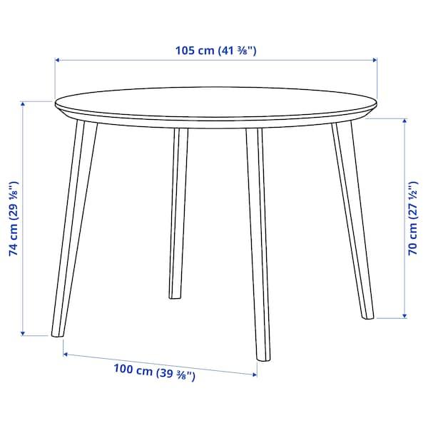 LISABO Tisch, Eschenfurnier, 105 cm