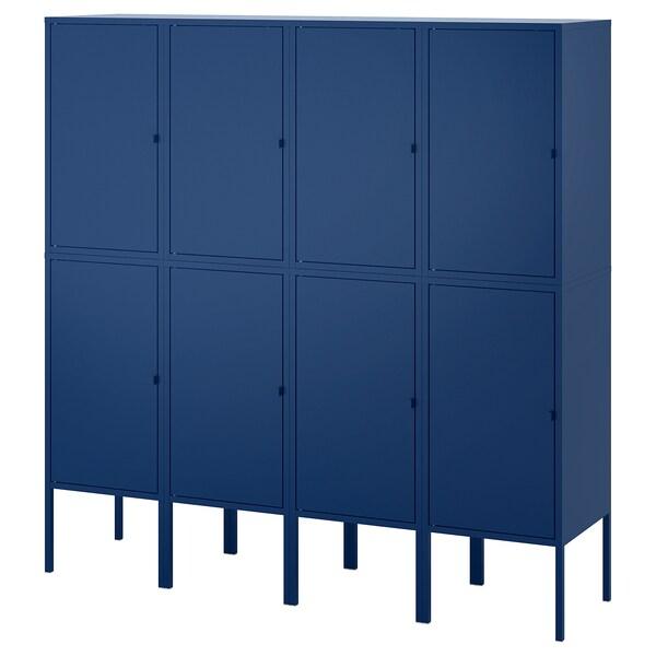 LIXHULT Aufbewahrungskombi dunkelblau 120 cm 142 cm 140 cm 35 cm 142 cm 21 cm 12 kg