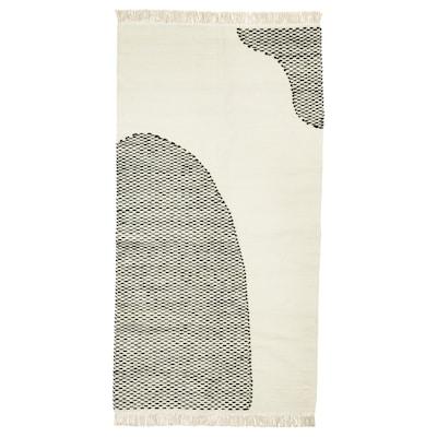 LOKALT Teppich, natur schwarz/Handarbeit, 80x150 cm