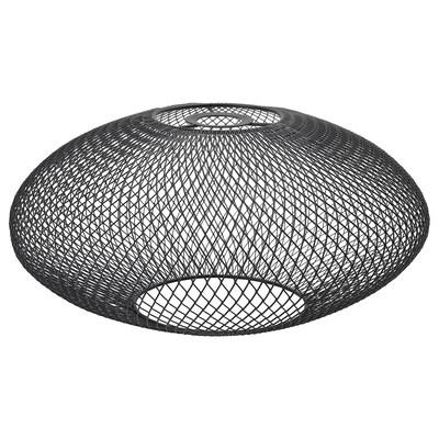LUFTMASSA Leuchtenschirm schwarz Ovale 18 cm 37 cm